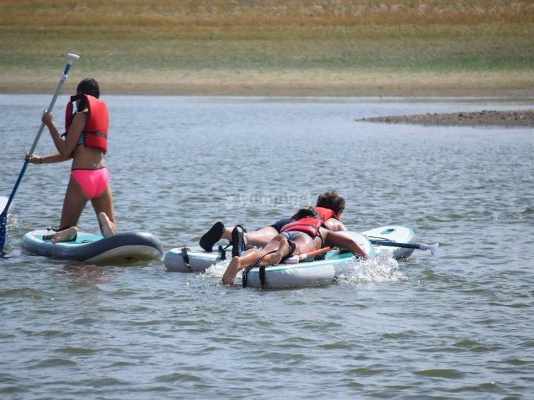 Paddle surf en embalse de Llerena