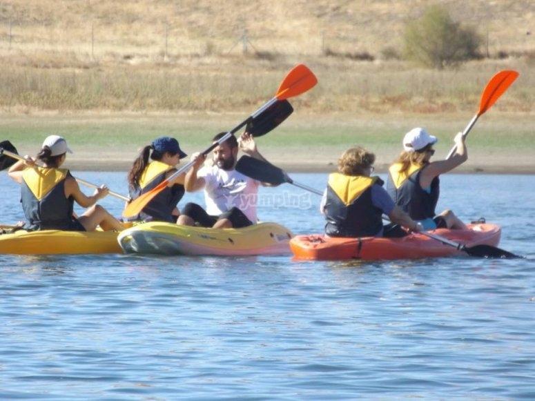 Sessione di canoa a Berlanga