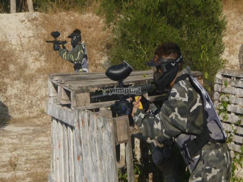 """Paintball en Murcia 100 bolas fotos y vídeo HD"""