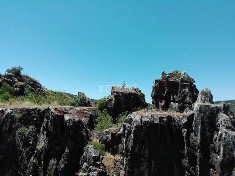 Zona de escalada natural