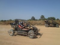 Buggies on the dirt road