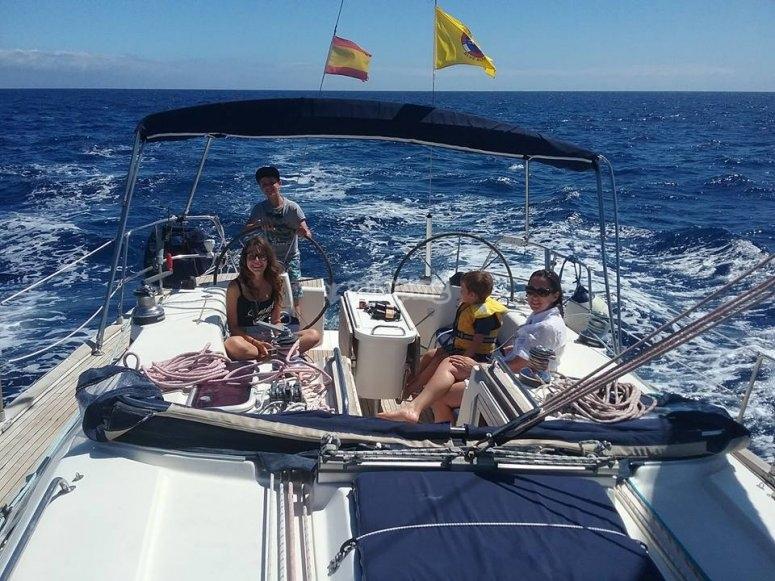 Sailing boat in Los Gigantes
