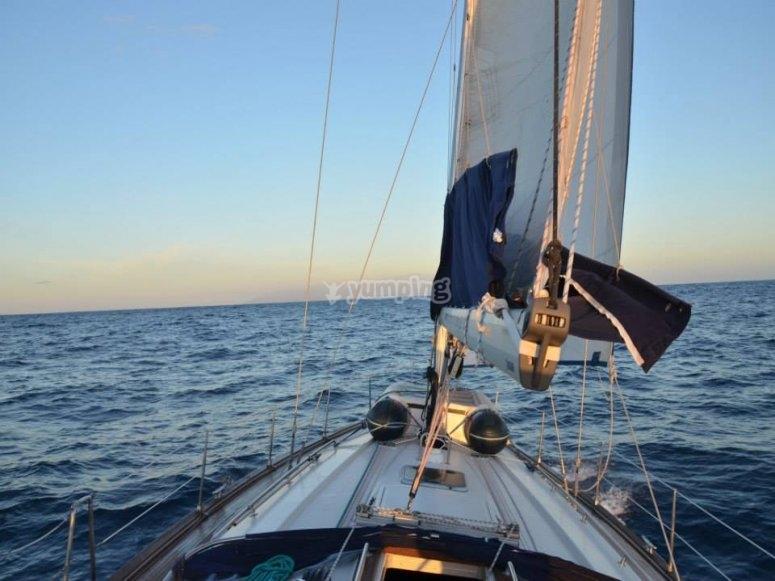 宪章帆船在洛斯·吉甘特斯