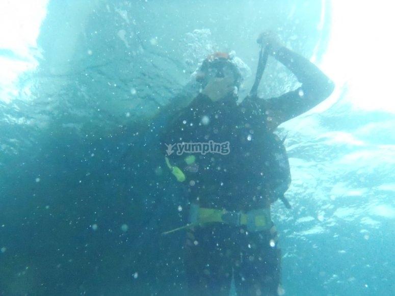 Realizando una inmersión