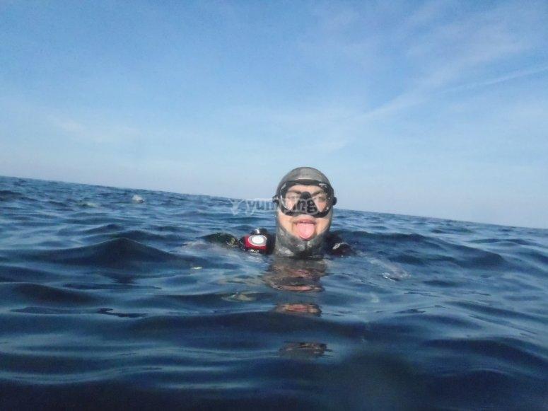 Pronto all'immersione