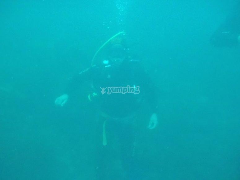 高级潜水潜水员OK