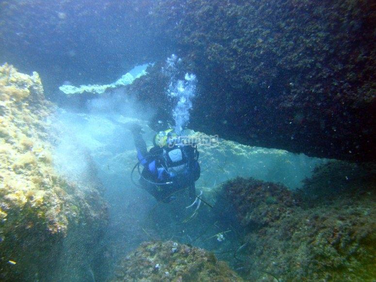 Curso de buceo en Menorca