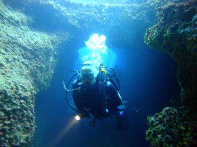 Especialidad de buceo en cavernas Menorca
