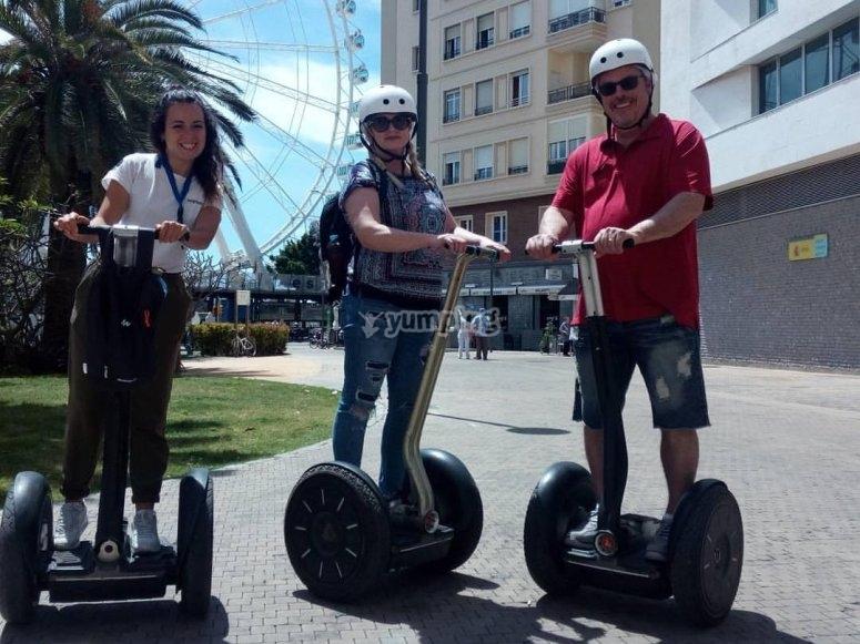 Discover Malaga driving a segway