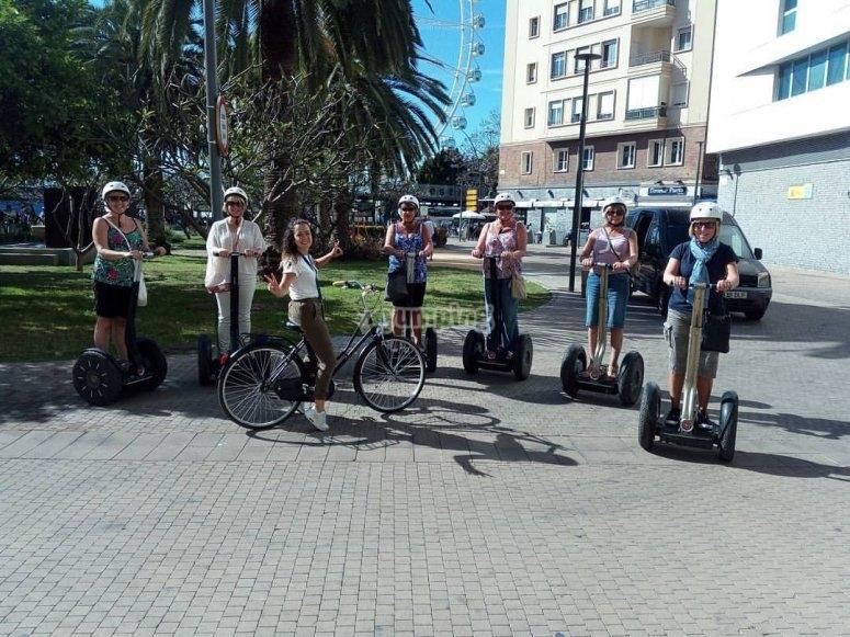 Riding a segway around Malaga