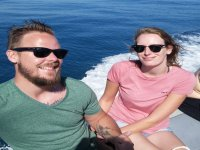 Couple on board the boat