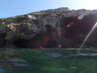 Snorkelling on the cliff