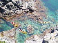 Kayaks por mar