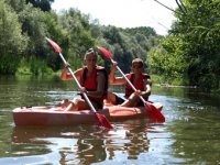 Kayaks por río