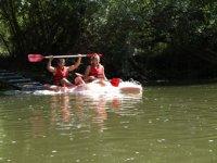 Kayaks en el Ter.