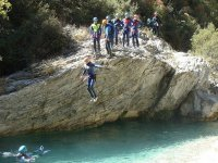 Fun times in the canyoning activity