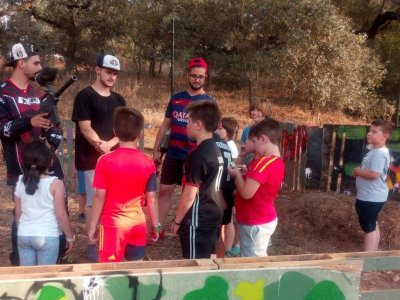 Paintball game in Badajoz for kids