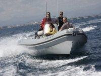 giro con la barca