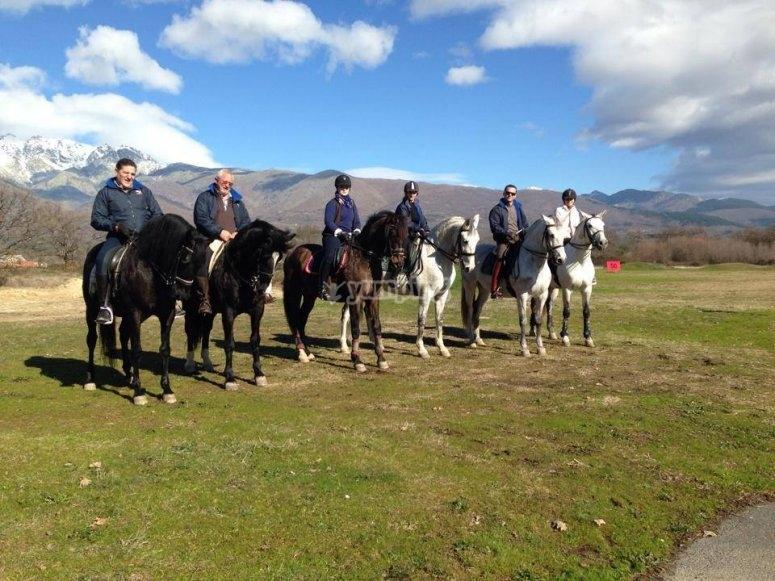Paseo a caballo monte de Gredos