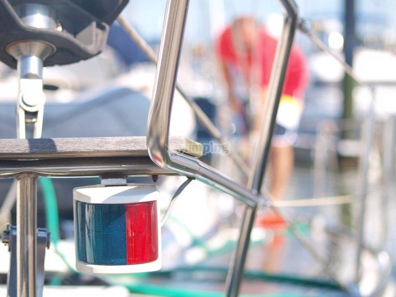 比斯开湾的巴伐利亚帆船