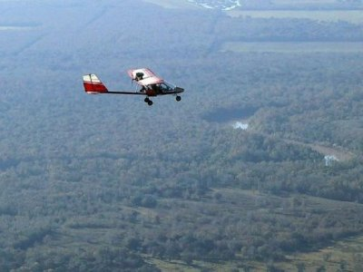 30-minute ultralight aircraft flight in Tuy