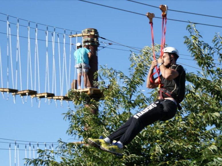 Zip line e ponte inferiore