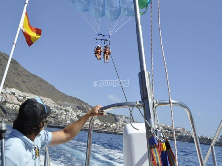 Enjoy Parasailing in the island