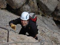 我们铁索攀岩在ferratas的世界开始使用
