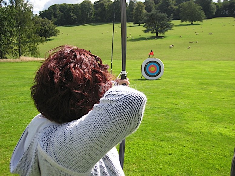 Archery in the stag/hen do