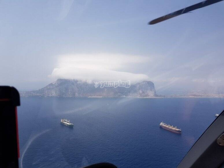 Volar en helicóptero en Gibraltar