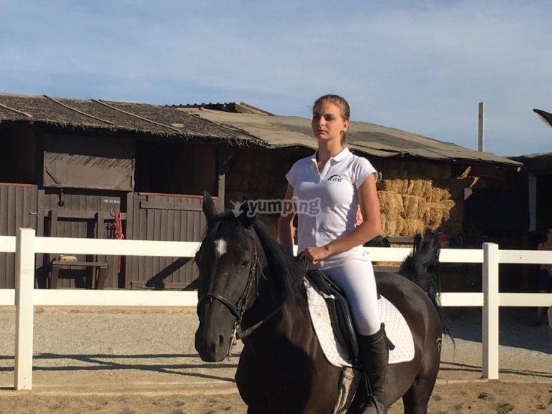 Equitacion en pista