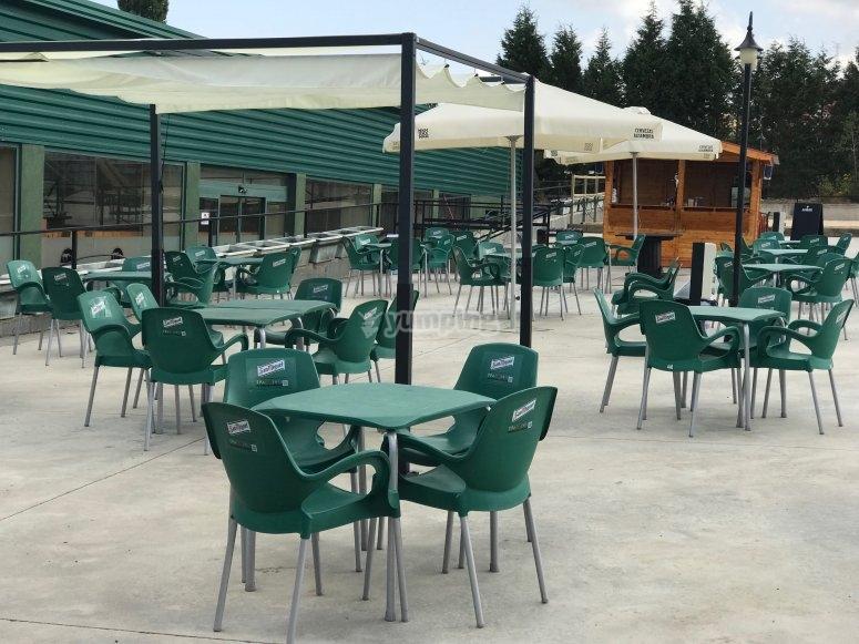 Mesas de la terraza