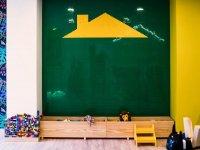 Blackboard wall to create non-stop