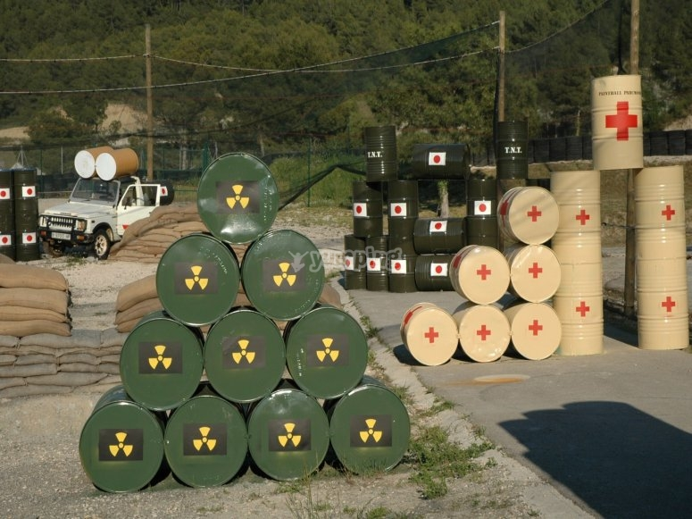 Base militar como escenario de paintball