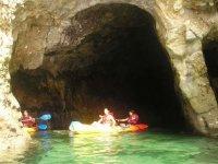 acantilados en canoa