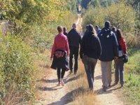 在Sierra de Madrid徒步旅行