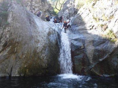 法国Gorges del Llech的下降山沟