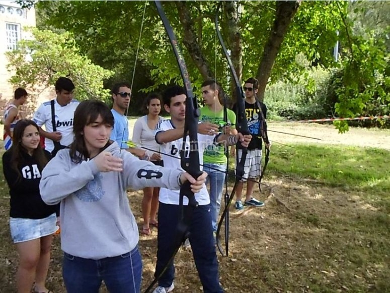 Birthday party and archery