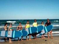 Listos para aprender a surfear