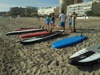 Listos para comenzar a surfear