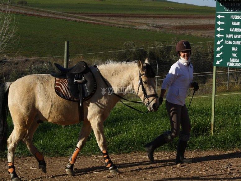 Paseo a caballo con alojamiento