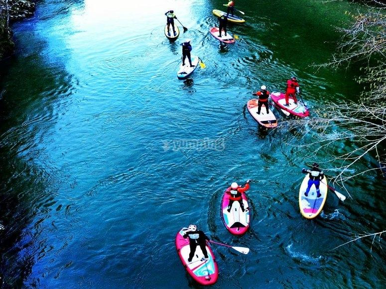 划桨冲浪径