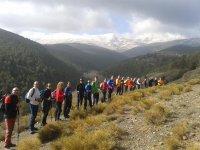 在内华达山脉的远足路线