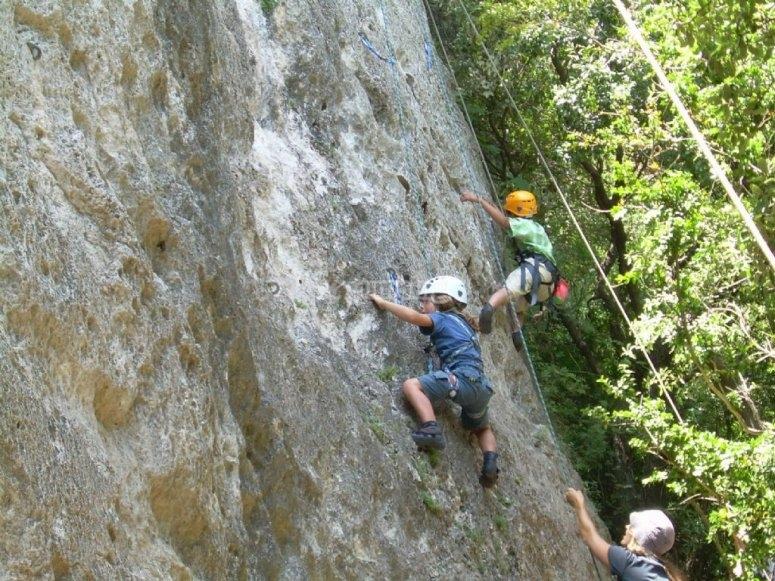 Peques escaladores