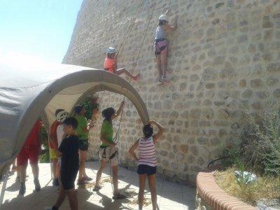 Bautismo de escalada y rappel en Guadix