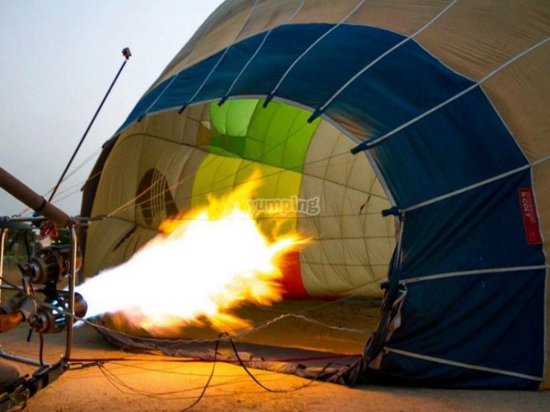 Volar en globo en Valladolid