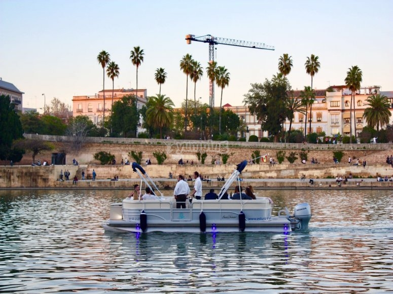 Explore Seville on a boat
