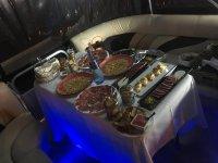 Cena a bordo della barca