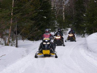 Moto de nieve doble en Andorra 60 min