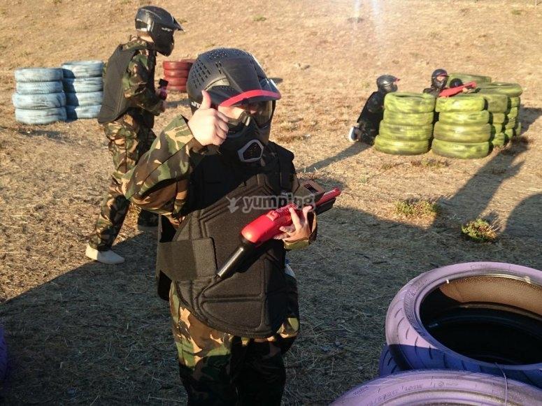 进行彩弹射击的良好保护
